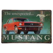 Plaque vintage Ford Mustang rouge