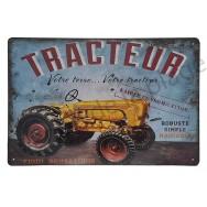 Plaque vintage tracteur ancien