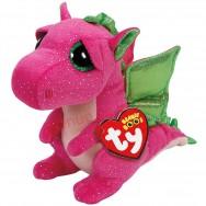 Peluche Ty Beanie Boo's Darla le dragon rose 14 cm