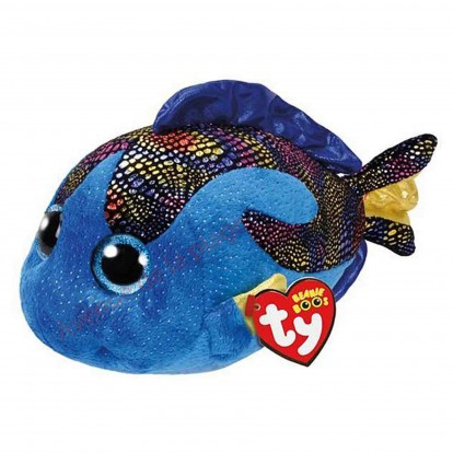 Peluche Ty Beanie Boo's Aqua le poisson bleu 30 cm