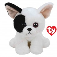 Peluche Ty Beanie Babies Marcel le chien bouledogue français 14 cm