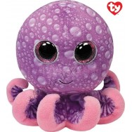 Peluche Ty Beanie Boo's Legs le poulpe rose 11 cm