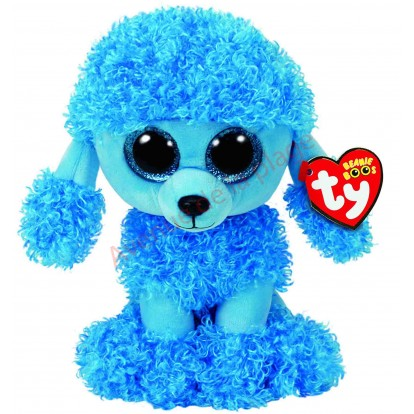 Peluche Ty Beanie Boo's Mandy le caniche bleu 24 cm