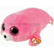 Peluche Ty Beanie Boo's Pierre le phoque rose 28 cm