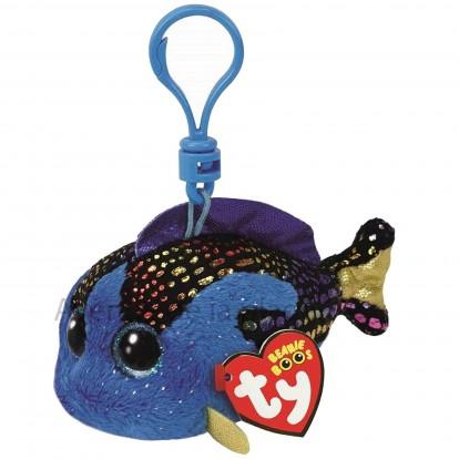 Peluche Ty Beanie Boo's porte clé Aqua le poisson bleu