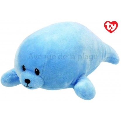 Peluche Baby Ty Squirt le phoque bleu 24 cm