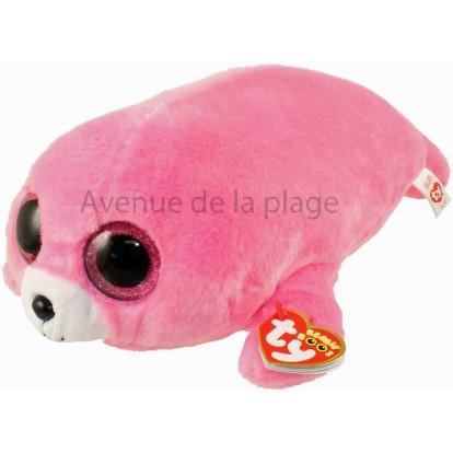 Peluche Ty Beanie Boo's Pierre le phoque rose 18 cm