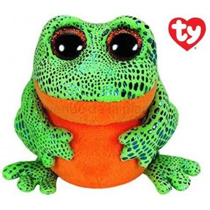 Peluche Ty Beanie Boo's Speckles la grenouille verte 14 cm