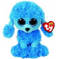 Peluche Ty Beanie Boo's Mandy le caniche bleu 16 cm