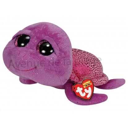 Peluche Ty Beanie Boo's Slow-Poke la tortue mauve 16 cm