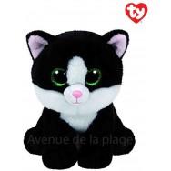 Peluche Ty Classic Beanie Ava le chat noir et blanc 23 cm