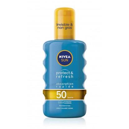 Crème solaire Nivéa spray Protège et rafraîchi FPS 50