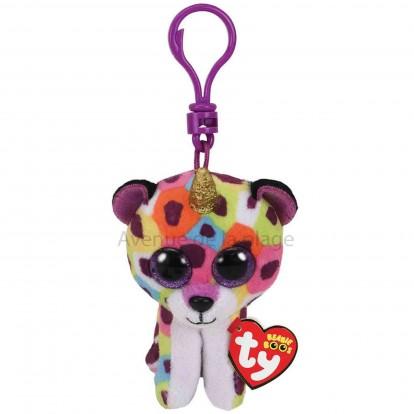 Peluche Ty Beanie Boo's porte clé Giselle le léopard licorne