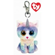 Peluche Ty Beanie Boo's porte clé Heather le chat licorne