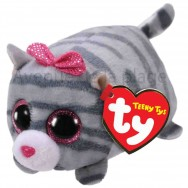 Peluche Teeny Ty Cassie le chat gris
