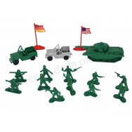 Set de soldats en plastique 65 pcs