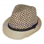 Chapeau Borsalino motif bicolore
