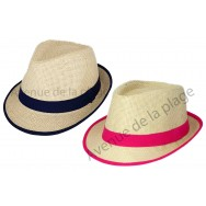 Chapeau borsalino bande colorée pour enfant