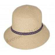 Chapeau femme rond bandeau maya