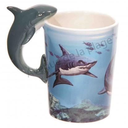 Mug anse requin blanc