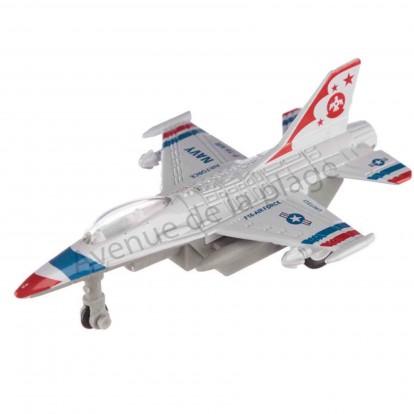 Avion de chasse miniature 10 cm blanc