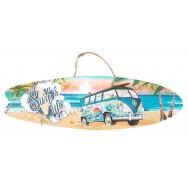 Surf à suspendre Combi vert sur la plage