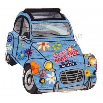 Magnet voiture 2 cv hippie road trip