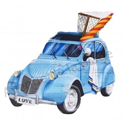 Magnet voiture 2 cv à la plage