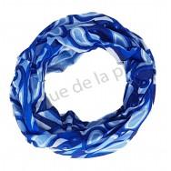 Bandeau cheveux motif abstrait bleu