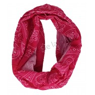 Bandeau imprimé bandana rose fuchsia