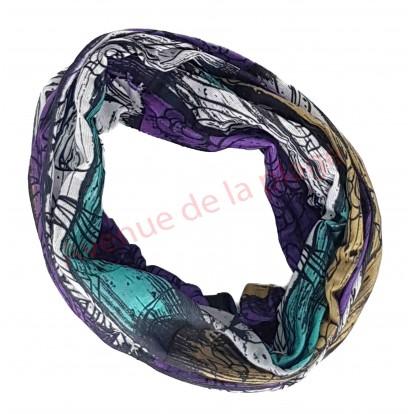 Bandeau pour cheveux lignes de peinture avec motifs