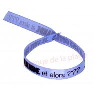 Bracelet ruban message Je suis une gourmande et alors ?