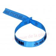 Bracelet ruban message Je suis un petit roi