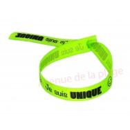 Bracelet ruban message Je suis unique