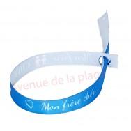 Bracelet ruban message Mon frère chéri