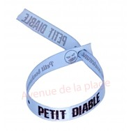 Bracelet ruban message Petit bonhomme - Petit diable