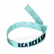 Bracelet ruban message Sea Sex & Sun
