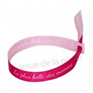 Bracelet ruban message La plus Belle des Mamans