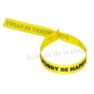 Bracelet ruban message Don't worry Be happy