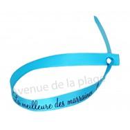 Bracelet ruban message La meilleure des Marraines