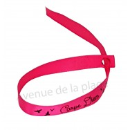 Bracelet ruban message Carpe Diem