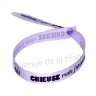 Bracelet ruban message Chieuse mais j'assume