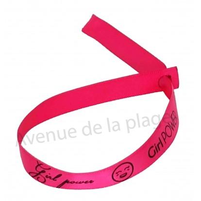 Bracelet ruban message Girl Power