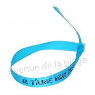 Bracelet ruban message Je t'aime mon fils