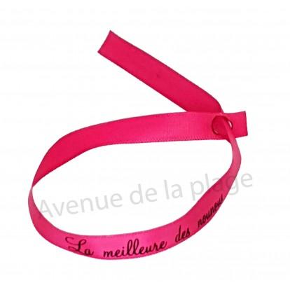 Bracelet ruban message La meilleure des Nounous