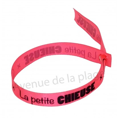 Bracelet ruban message La petite Chieuse