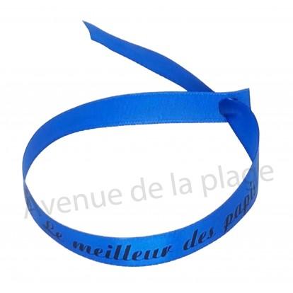 Bracelet ruban message Le meilleur des papis
