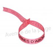 Bracelet ruban message Les copines d'abord