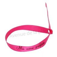 Bracelet ruban message Ma nièce préférée