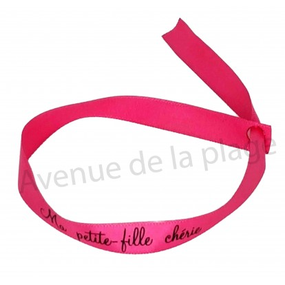 Bracelet ruban message Ma petite fille chérie